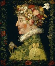 The Four Seasons: Spring – Giuseppe Arcimboldo, oil on canvas, 1563.