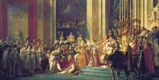 The Consecration of the Emperor Napoleon and the Coronation of Empress Josephine on December 2, 1804 – Jacques-Louis David, canvas, H6.21m W9.79m, 1806-1807.