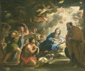 Adoration of the Shepherds – Luca Giordano, H1.15m L1.36m, 1688.