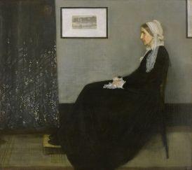 Whistler's Mother – James Abbott McNeill Whistler, oil on canvas, H144.3cm W162.5cm, 1871.