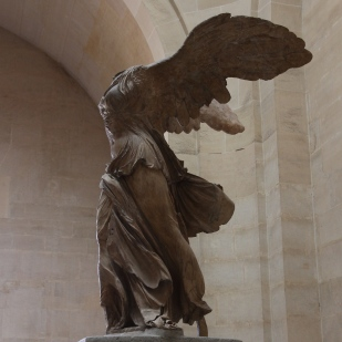 The Winged Victory of Samothrace – unknown, Gray Larlos marble and Parian marble, H3.28m, uncovered in 1863 on the island of Samothrace.