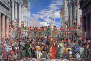 The Wedding Feast at Cana – Paolo Veronese, H6.77m W9.94m, 1563.